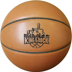 Synthetic Leather Basketball. Natural color. We can print your logo onto each basketball.