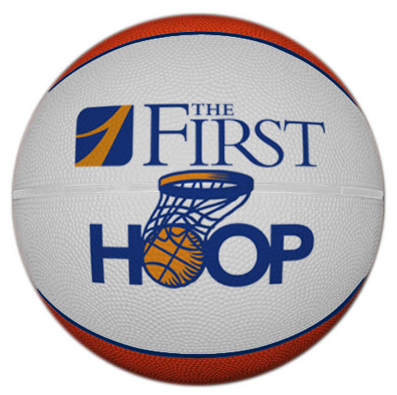 Basketballs can be printed across double panels.