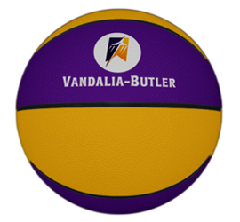 Rubber basketball for promotions and team giveaways.