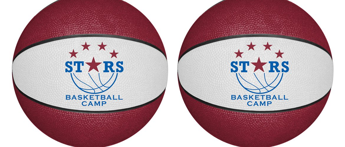 Personalized basketballs for basketballs camps.